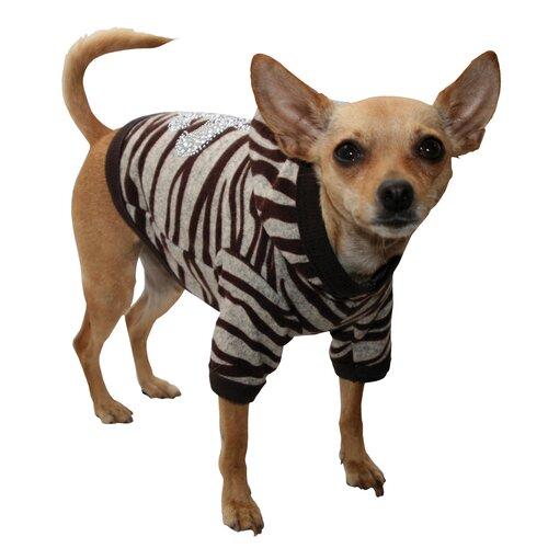 Super Soft Dog Hoodie in Zebra