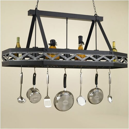 Sonoma 8 Sided Hanging Pot Rack with 3 Lights
