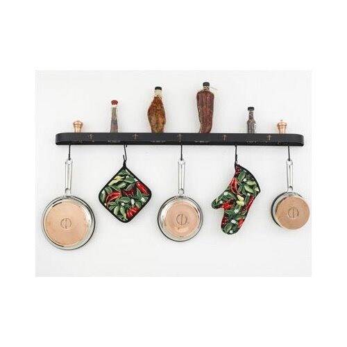 Hi-Lite Fleur de Lis Wall Mounted Pot Rack