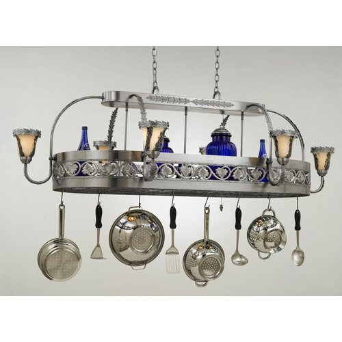 Hi-Lite Leaf Chandelier Pot Rack with Shade