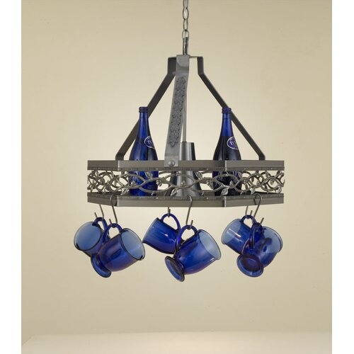 Hi-Lite Napa Hanging Pot Rack with Light