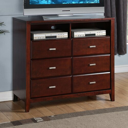 Carrington 6 Drawer Media Chest