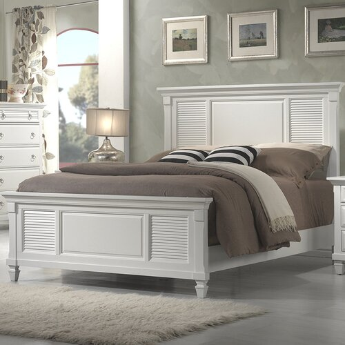 Alpine furniture winchester shutter panel bed reviews for Winchester bedroom furniture