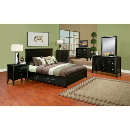 Alpine Furniture Laguna Storage Panel Bed