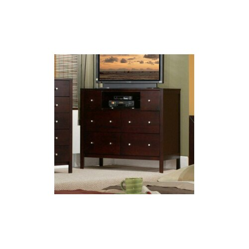 Alpine Furniture Solana 6 Drawer Media Chest