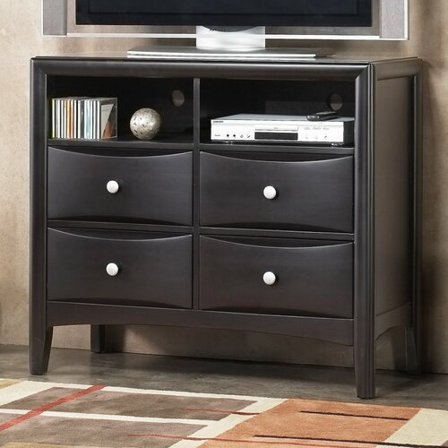 Alpine Furniture Laguna 4 Drawer Media Chest
