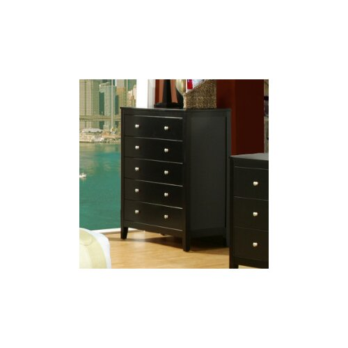Vista 5 Drawer Tall Boy Chest
