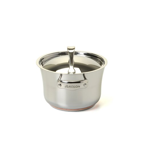 Anolon Nouvelle Stainless 3.5-qt. Soup Pot with Lid
