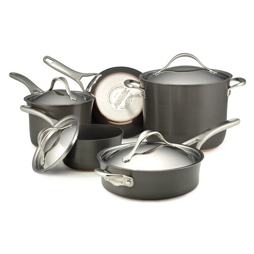 Anolon Nouvelle Copper 9-Piece Cookware Set