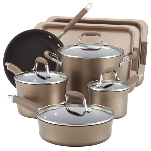Advanced Hard-Anodized Nonstick 11-Piece Cookware and Bakeware Set