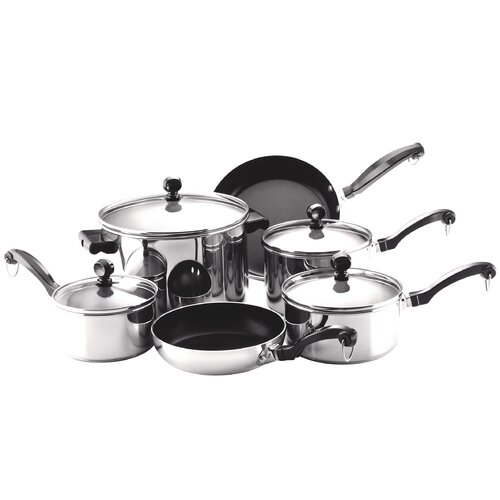 Farberware Classic Stainless Steel 10 Piece Cookware Set