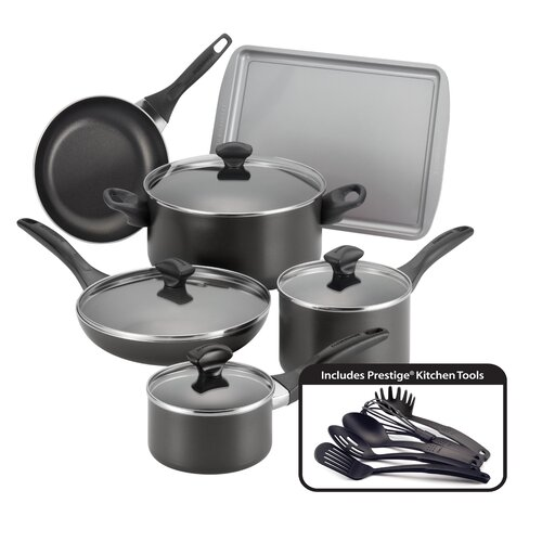 Farberware Nonstick 15 Piece Cookware Set & Reviews | Wayfair
