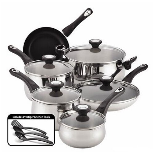 New Traditions Stainless Steel 14-Piece Cookware Set