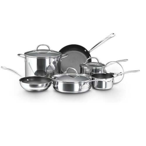 Millennium Polished Stainless Steel 10-Piece Cookware Set