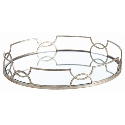 ARTERIORS Home Cinchwaist Oval Iron with Mirror Tray