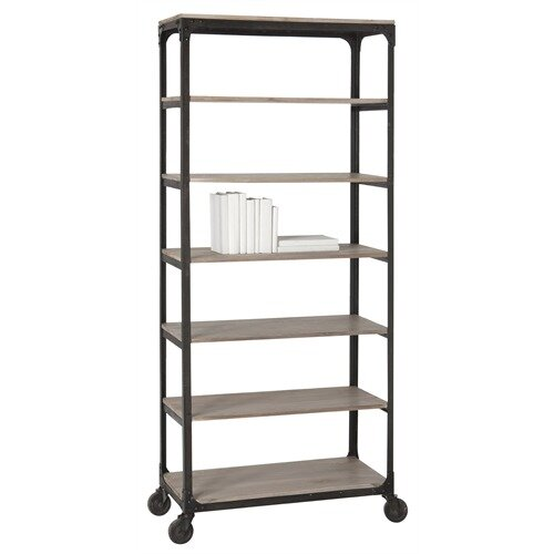 ARTERIORS Home Faust Iron / Wood Rolling Shelving Unit