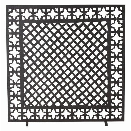 Houston 1 Panel Iron Fireplace Screen