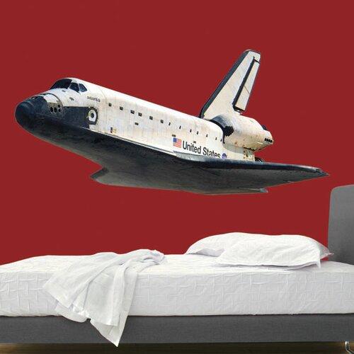 Space Shuttle In Flight Wall Decal | Wayfair