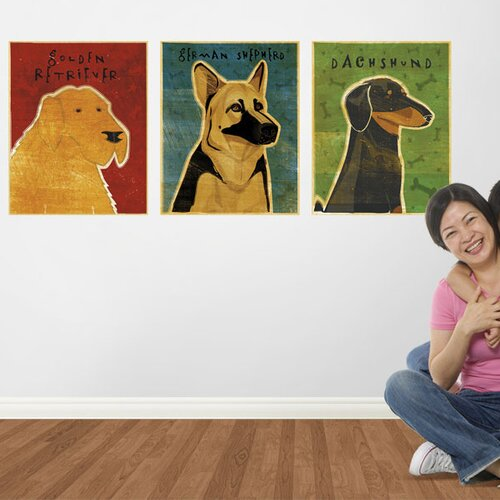 4 Walls Top Dog Golden Retriever Wall Decal