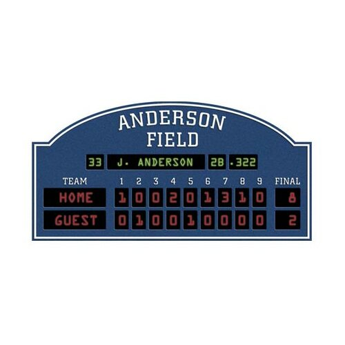 4 Walls Unique Peel and Stick Baseball Scoreboard Wall Decal