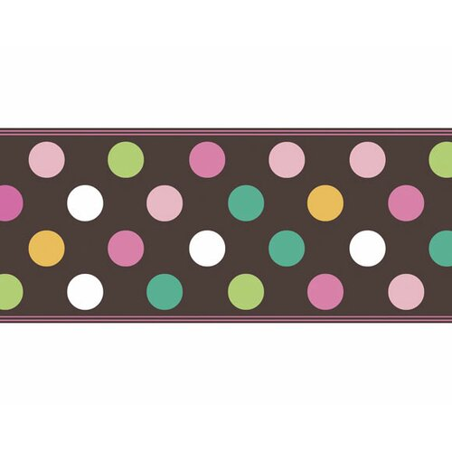 4 Walls Candy Polka Dot Wallpaper Border