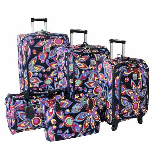 Wild Flower 360 Quattro 5 Piece Luggage Set