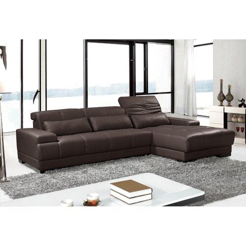 Hokku Designs Digo Leather Sectional
