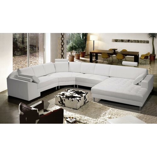 Hokku Designs Vacaville Leather Sectional