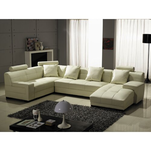 Houston Right Leather Sectional