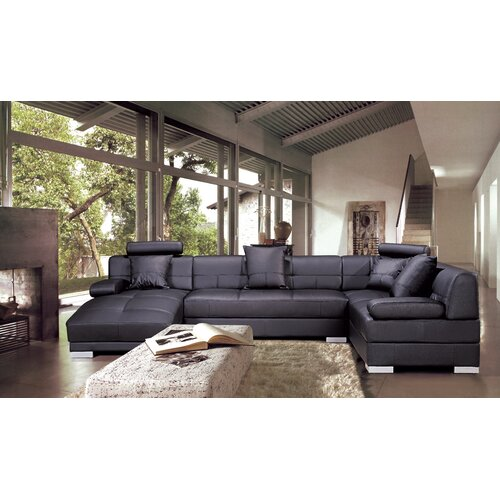 Hokku Designs Galveston Leather Sectional