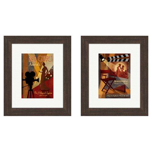 Pro Tour Memorabilia Vintage Carpet Awards 2 Piece Framed Vintage Advertisement Set