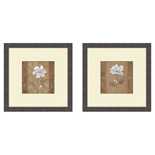 Pro Tour Memorabilia Floral Spring Ahead 2 Piece Framed Graphic Art Set