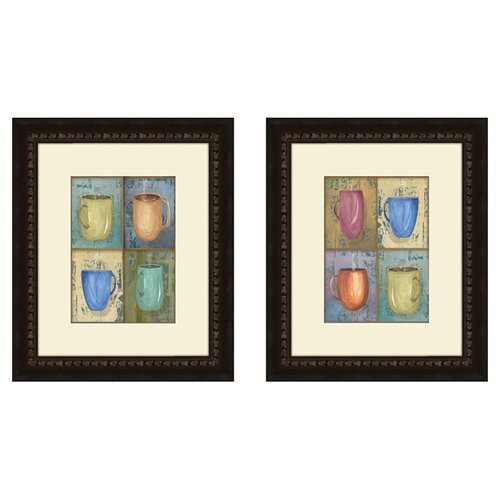 Kitchen Cups 2 Piece Framed Painting Print Set