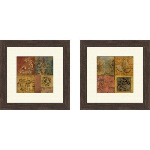 Pro Tour Memorabilia Organic Montage 2 Piece Framed Painting Print Set