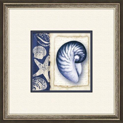 Pro Tour Memorabilia Blue Shell B Framed Graphic Art