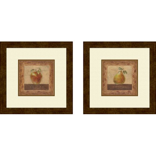 Pro Tour Memorabilia Kitchen Elegant Edibles 2 Piece Framed Graphic Art Set
