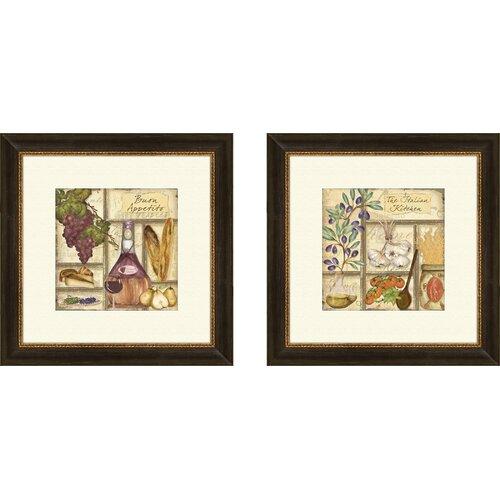 Pro Tour Memorabilia Kitchen Italian 2 Piece Framed Graphic Art Set