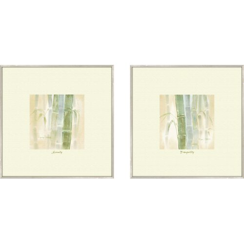 Pro Tour Memorabilia Bath Serenity 2 Piece Framed Painting Print Set