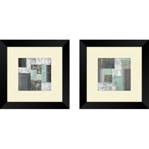 Pro Tour Memorabilia Contemporary Quadrangle 2 Piece Framed Painting Print Set