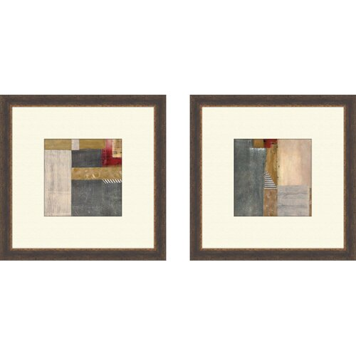 Contemporary Jeans 2 Piece Framed Painting Print Set
