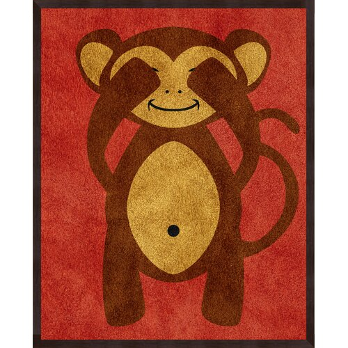 Pro Tour Memorabilia Monkeys Framed Art