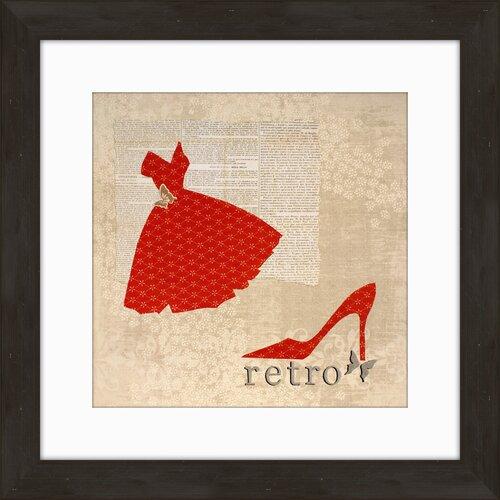 Retro Framed Graphic Art