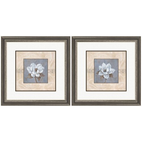 Pro Tour Memorabilia Floral Summerscent 2 Piece Framed Graphic Art Set