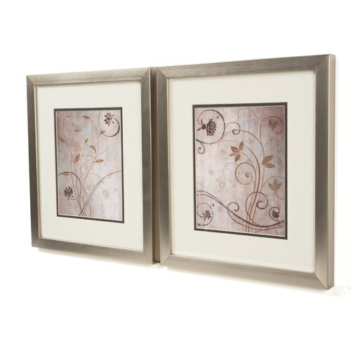Pro Tour Memorabilia Botanical Spring Meadow 2 Piece Framed Graphic Art Set