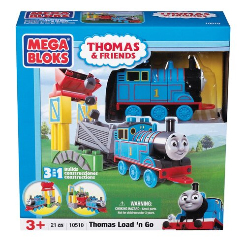 Mega Brands Mega Bloks Thomas 3-in-1 Buildable-Thomas Load'n Go
