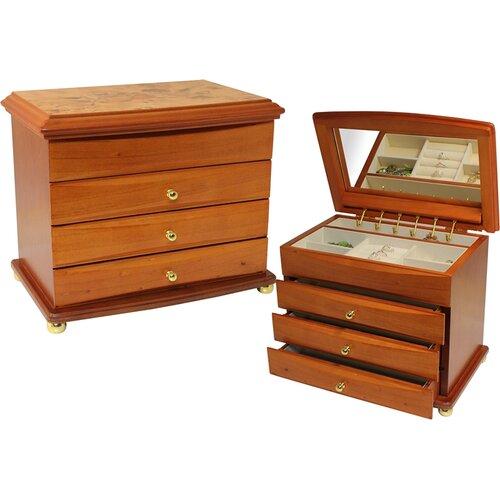 Floral Motif Jewelry Box