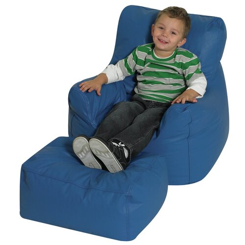 The Children's Factory Cozy Kids Chair and Ottoman