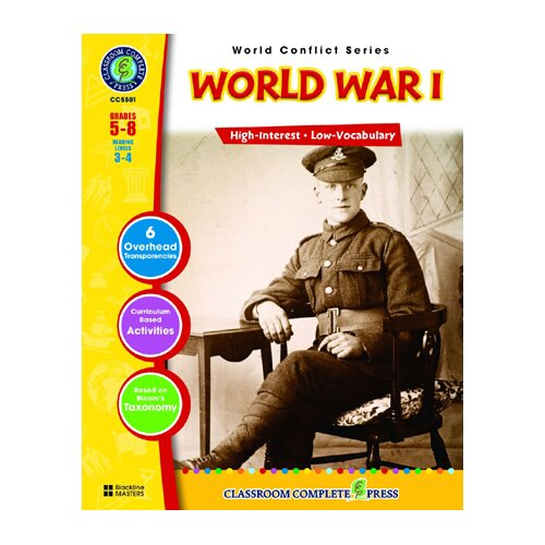 Classroom Complete Press World Conflict Series World War I