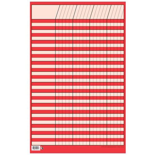 Creative Teaching Press Sm Red Vertical Incentive Chart