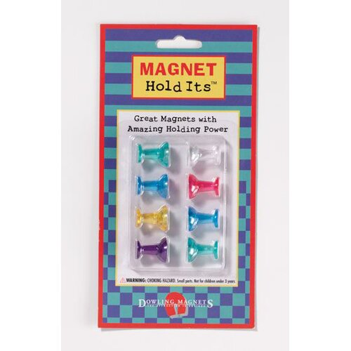 Dowling Magnets Eight Medium Push Pin Magnets